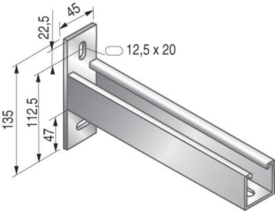 CONSOLES STRUT 41x41 - PS651