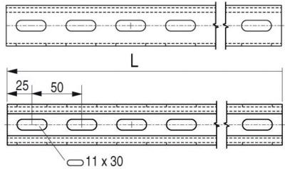 STRUT 41x41 PERFORES 3 FACES - PS210 3U