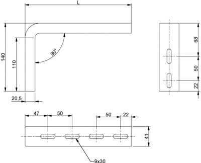 CONSOLES STRUT C 41X21 - C641