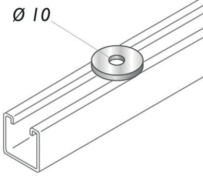 RONDELLES PLATES 10 STRUT 41 - PS 610